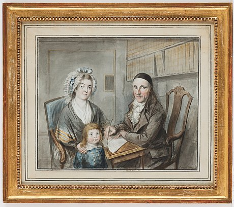 Elias martin, watercolour. signed and dated.