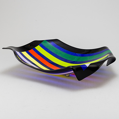 Tomme bremberg, a 'towell' glass plate, dated 1997.