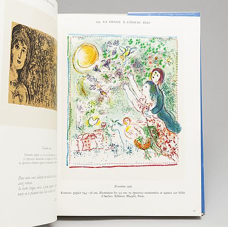 "Three marc chagall books, ""lithograph ii,iii, iv"""