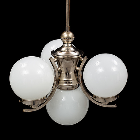 An 1930's, art deco, ceiling lamp