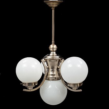 An 1930's, Art Deco, ceiling lamp.