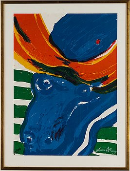BENGT LINDSTRÖM, lithograph in colours, signed and numbered 23/99.