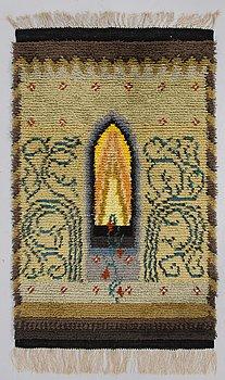 ILONA JALAVA, a Finnish long pile rug. Circa 154x98 cm.