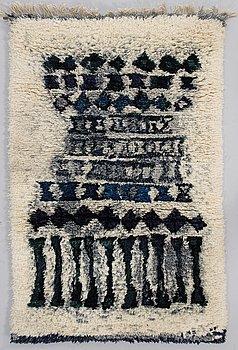 LEENA-KAISA HALME, a Finnish long pile rug. Circa 140x92 cm.