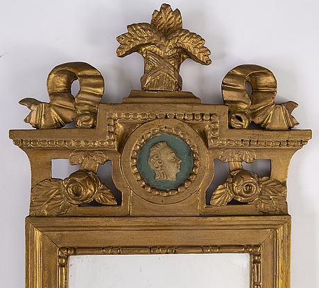 A gustavian mirror, sweden late 18th century