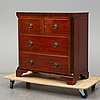 A 19th century mahogany chest of drawers.