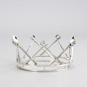 A Swedish 20th century sivler bridal crown mark of M Öhman Lycksele 1964, total weight ca 92 gr.