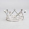 A swedish 20th century sivler bridal crown mark of m Öhman lycksele 1964, total weight ca 92 gr