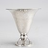 Wiwen nilsson, a sterling silver vase. 1925. weight 190 grams