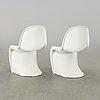 "A pair of verner panton ""panton chair"" by vitra"