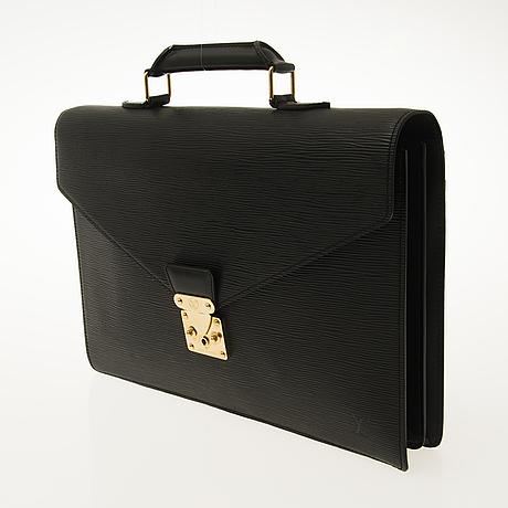 Louis vuitton black epi ambassador briefcase
