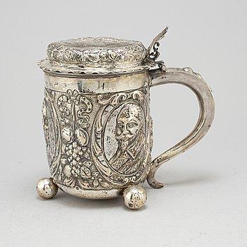 DRYCKESKANNA, silver, Svenska importstämplar.