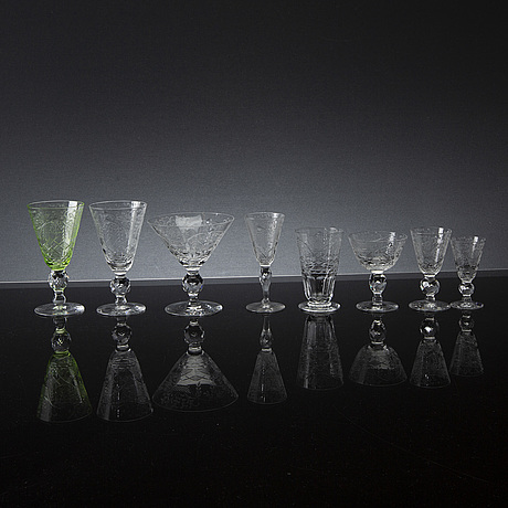 A 65 pieces glass service from kosta