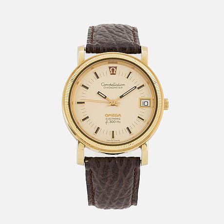Omega, constellation, electronic (f300 hz), chronometer, armbandsur, 36 mm