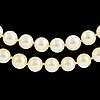 A two strand cultured pearl necklace Ø 6.5   7 mm