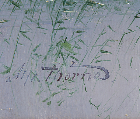 Alfred thÖrne, oil on canvas, signed.