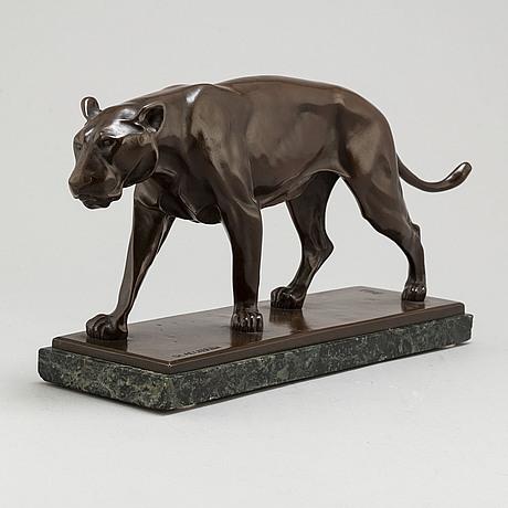 Christian aeckerlin, sculpture bronze, signed.