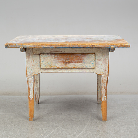 A painted pine table, first half of the 19th century
