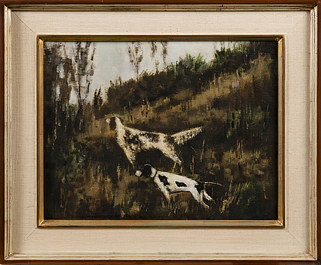 Helge dahlman, oil on panel, signed and dated  67
