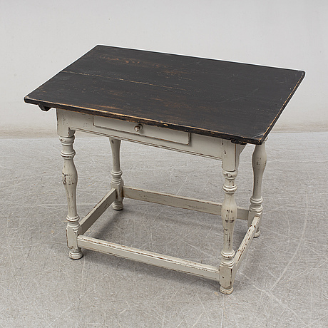 A painted pine table, 19th century