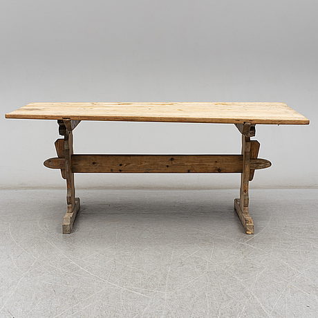 A pine table, 19th century