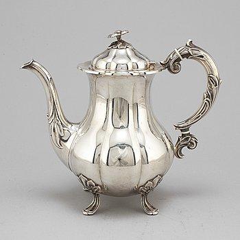 CM COHR, a silver coffee pot, Denmark, mid 20th century.