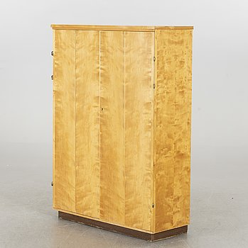 A birch cabinet with 62 trays and drawers, Sweden 1940's - 50's.