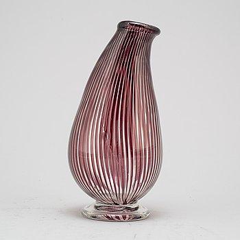 EDWARD HALD, a glass 'graal' vase, signed.