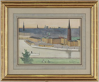 EINAR JOLIN, watercolor on paper, signed and dated June 1936.