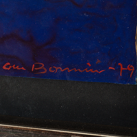 Olle bonniÉr, mixed media, signed and dated  79