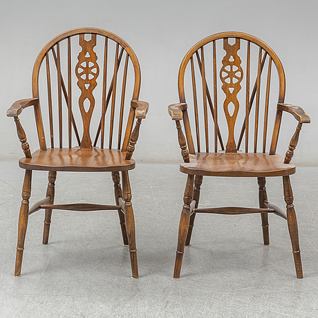 Seven english armchairs, 19th and 20th century