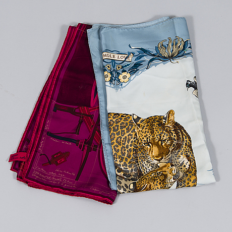 HermÈs two silk scarves