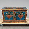 A swedish chest, dated 1858