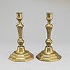 Candlesticks, a pair,  probably france, 18th century.