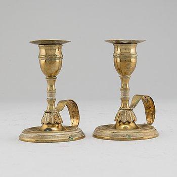 NATTLJUSSTAKAR, ett par, 1800-tal.