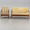 Tove & edvard kindt larsen, sofa and easy chair, france & daverkosen, denmark
