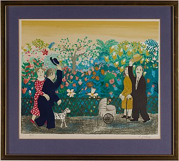 LENNART JIRLOW, lithograph in colours, signed 91/310.