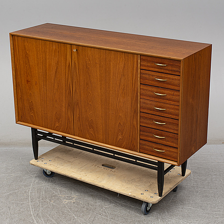 A second half of the 20th century teak veneered sideboard