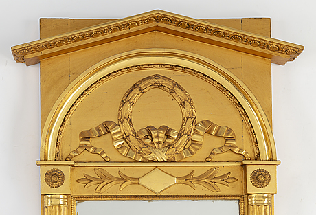 A gilt empire mirror, first half of the 19th century