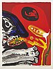 Edition leger, portfolio with 14 of 15 lithographes, signed and numbered 33/125.