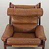 "An arne norell ""inca"" lounge chair"