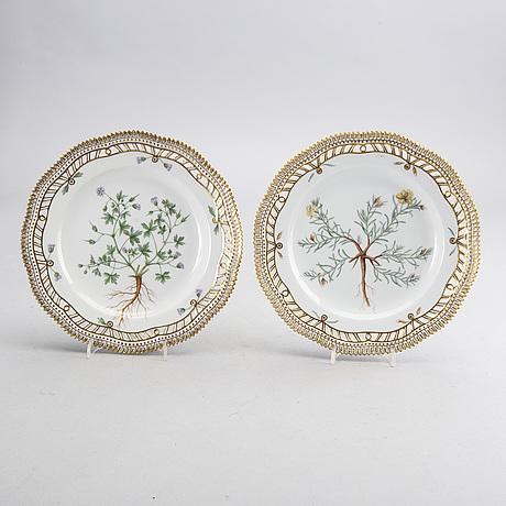 Tallrikar 2 st flora danica royal copenhagen danmark porslin
