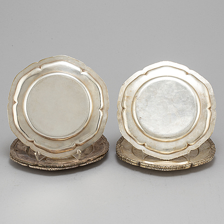 David andersen & co ab, six silver plates, stockholm, 1927 38