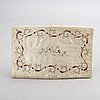A st of two embroidered wallets around 1800