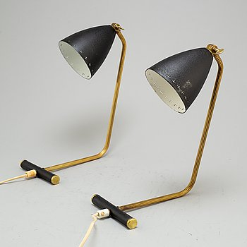 A pair of table lights, 1950's/60's.
