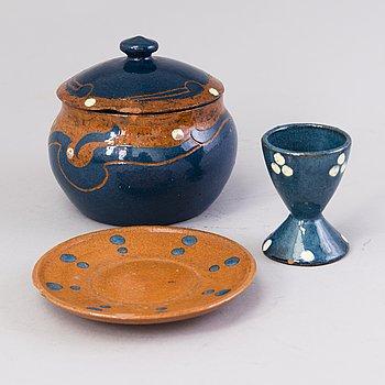 ALFRED WILLIAM FINCH, föremål, 3 st, Iris, Finland ca 1900.