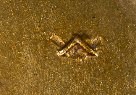 WÄinÖ aaltonen, gilded plaster relief, monogram signed. signed and dated 1936 a tergo