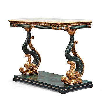 A Swedish Empire console table, early 19th century.