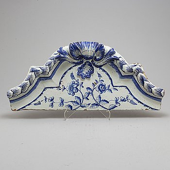 DECOR ELEMENT, Rococo, ceramics, second half of the 18th century.