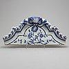 Decor element, rococo, ceramics, second half of the 18th century